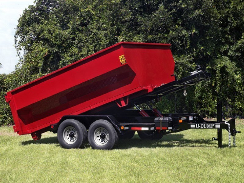 Bumper Pull Roll Off Trailer Red
